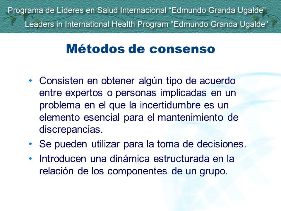 Métodos de consenso