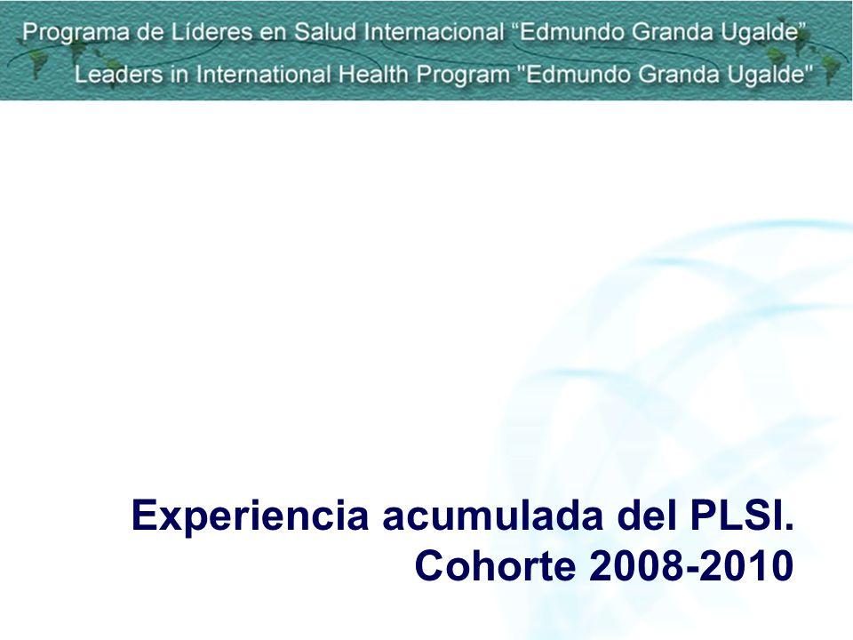 Experiencia acumulada del PLSI. Cohorte 2008-2010