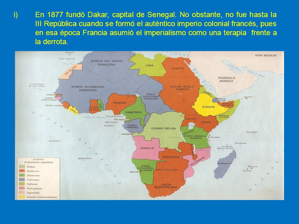 En 1877 fundó Dakar, capital de Senegal