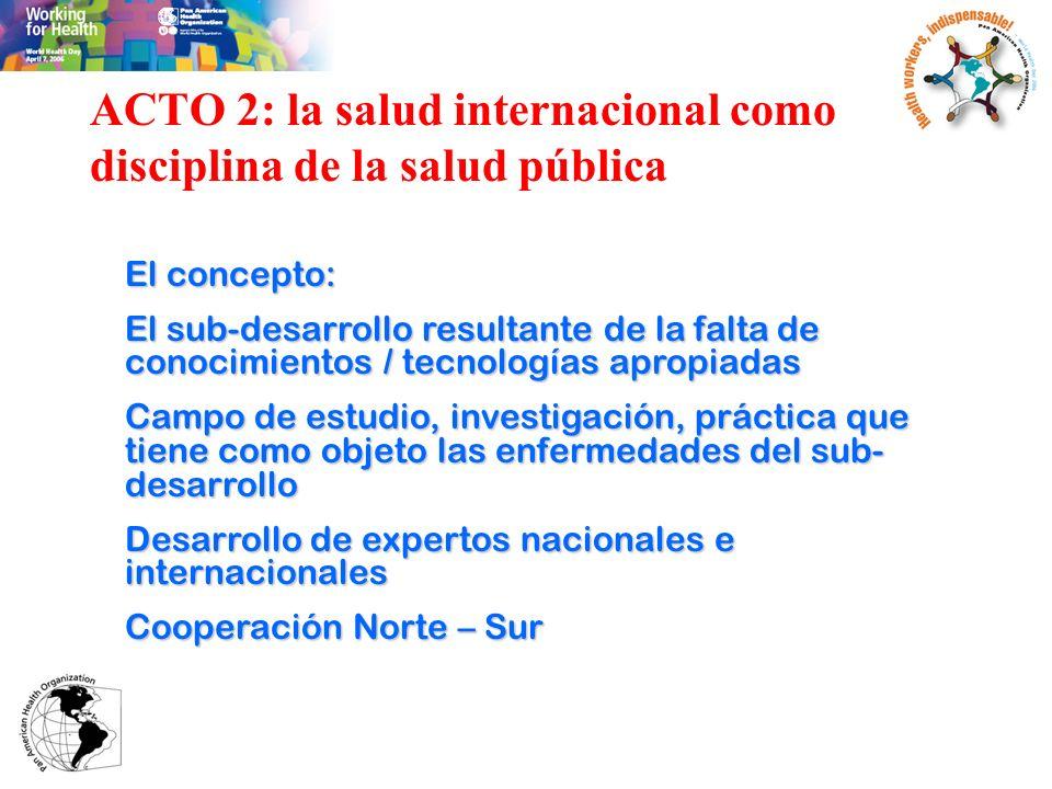 ACTO 2: la salud internacional como disciplina de la salud pública