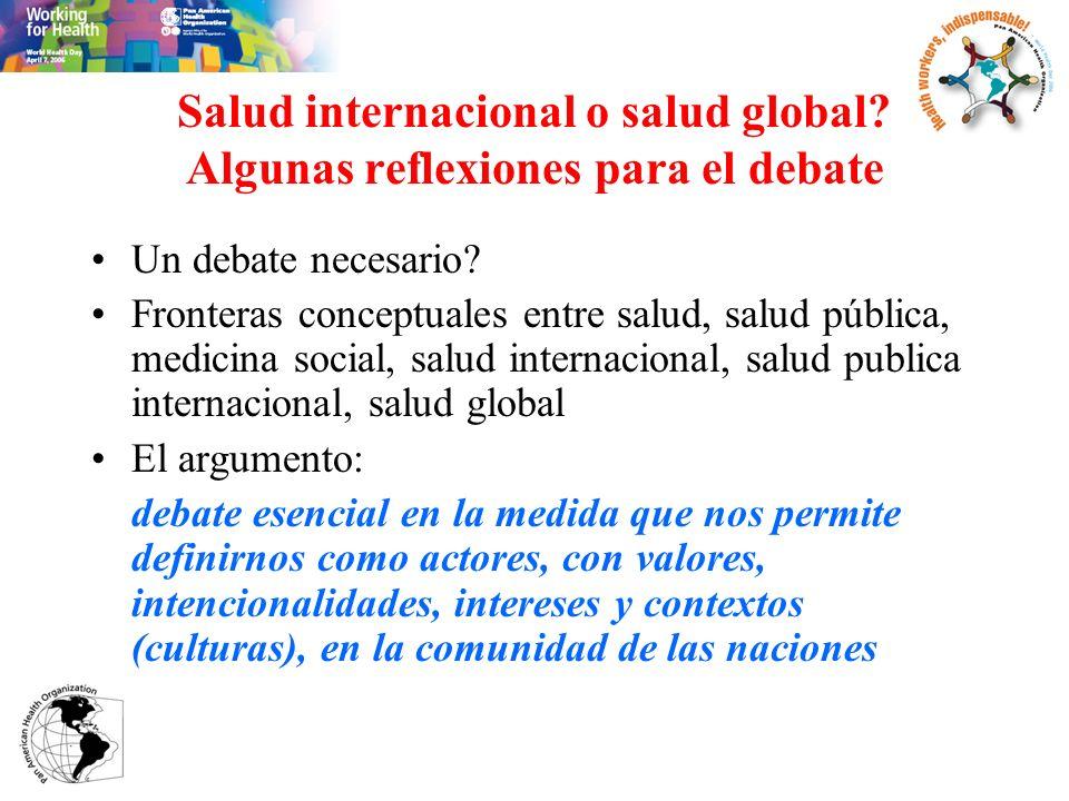 Salud internacional o salud global Algunas reflexiones para el debate