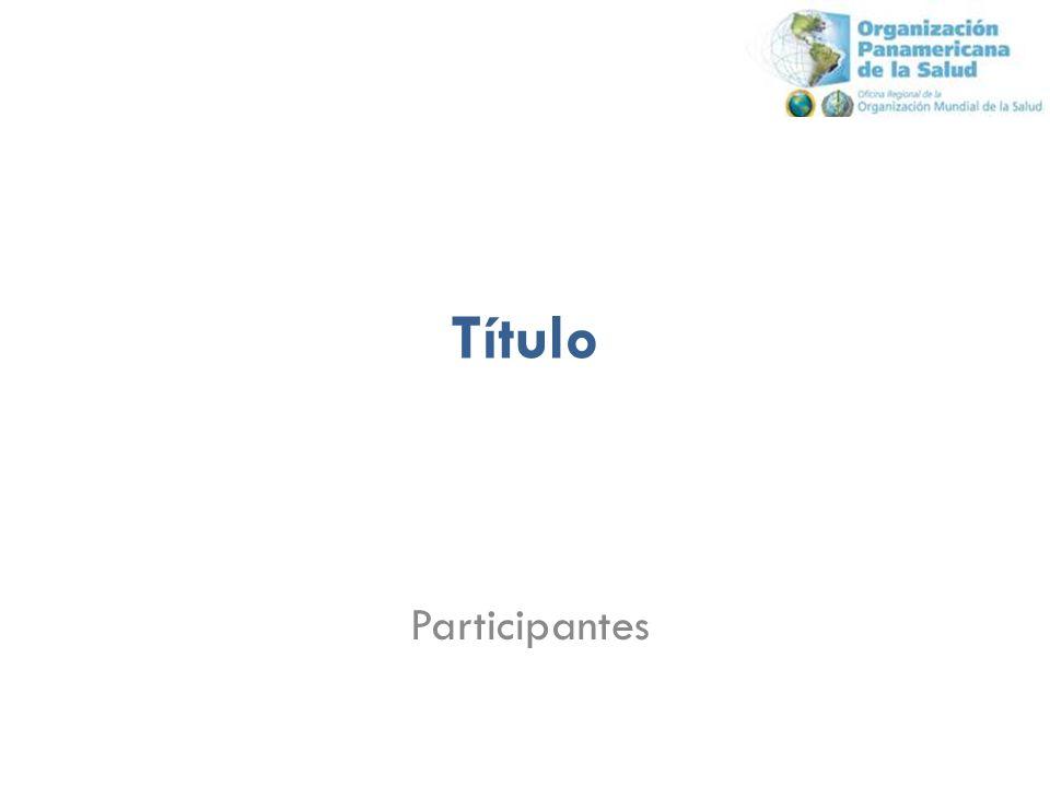 Título Participantes