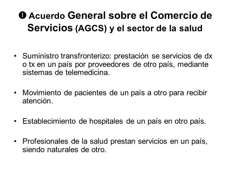  Acuerdo General sobre el Comercio de Servicios (AGCS) y el sector de la salud