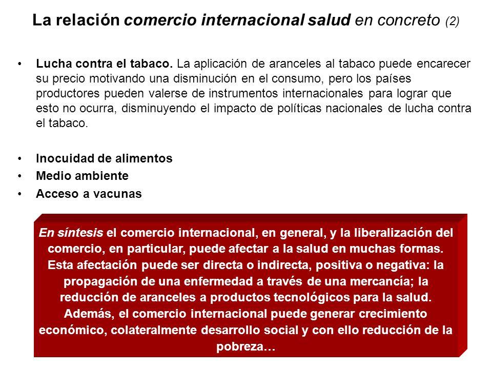 La relación comercio internacional salud en concreto (2)