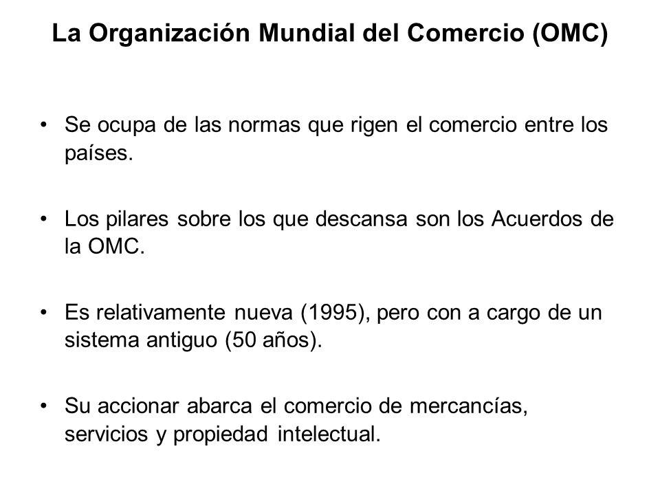 La Organización Mundial del Comercio (OMC)