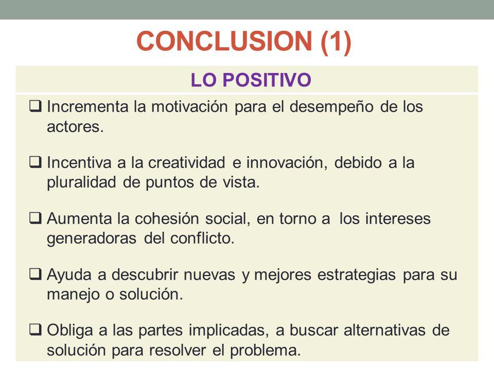 CONCLUSION (1) LO POSITIVO