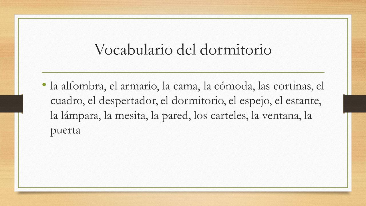 Vocabulario del dormitorio
