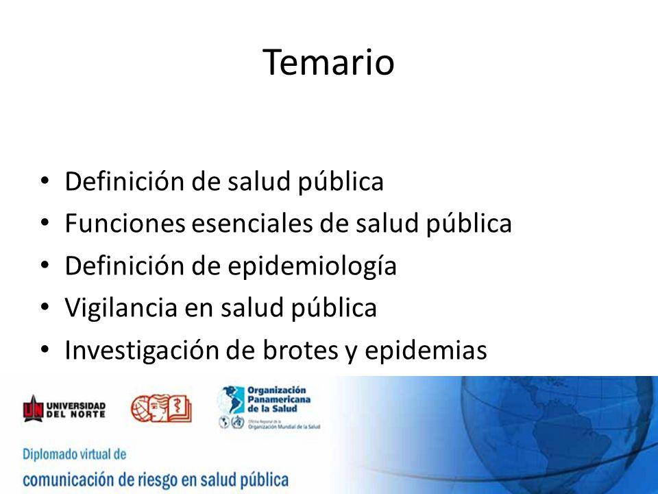 Temario Definición de salud pública
