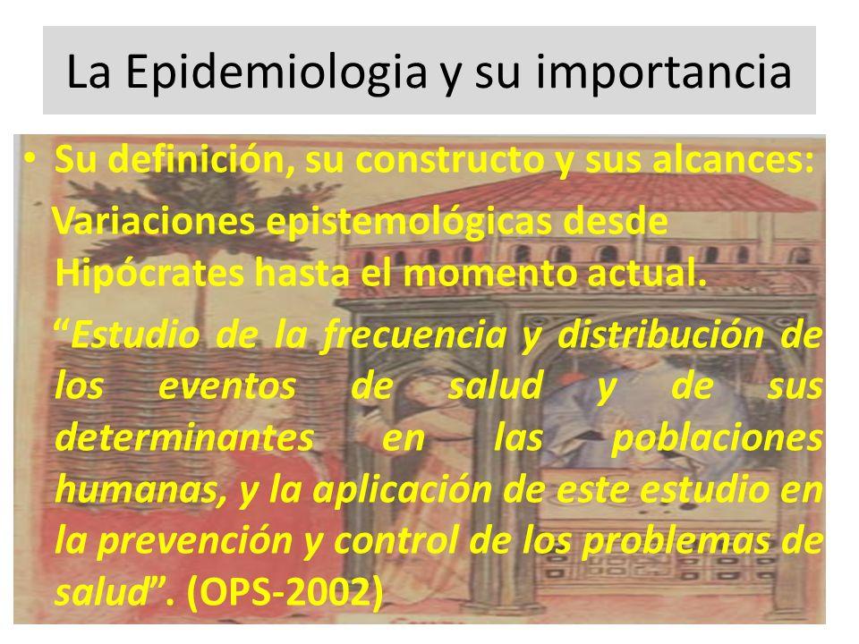 La Epidemiologia y su importancia