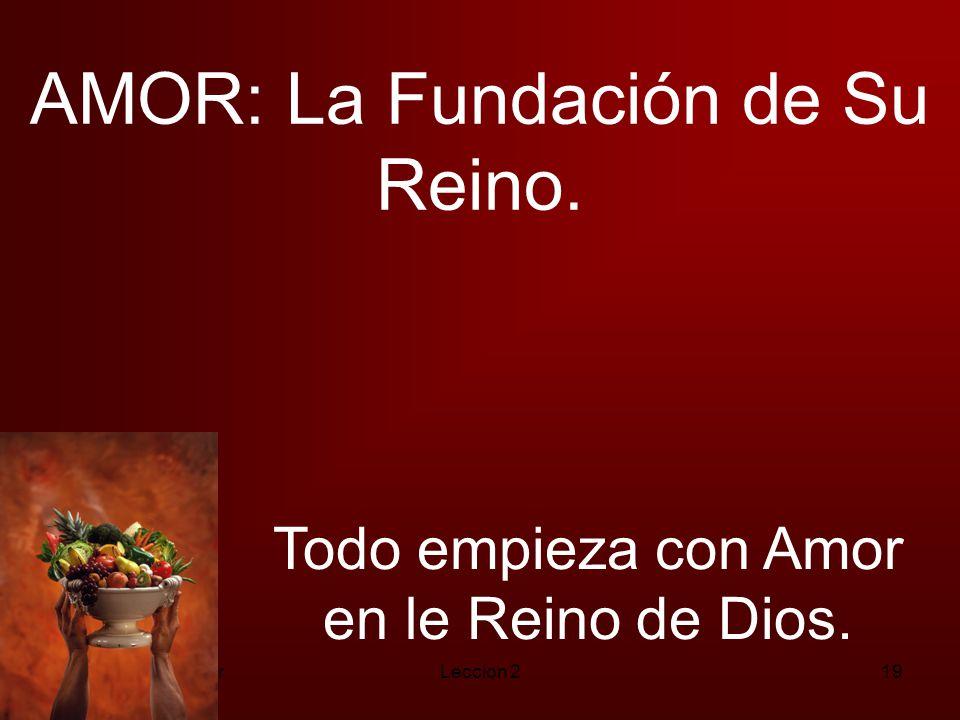 AMOR: La Fundación de Su Reino.