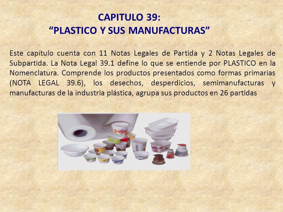 PLASTICO Y SUS MANUFACTURAS