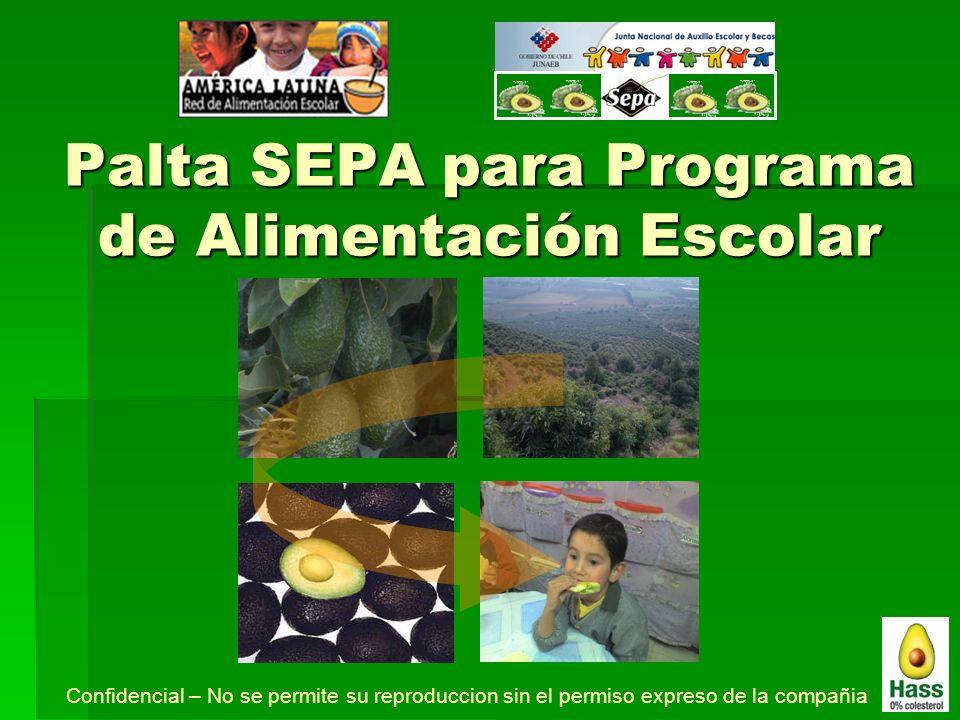 Palta SEPA para Programa de Alimentación Escolar