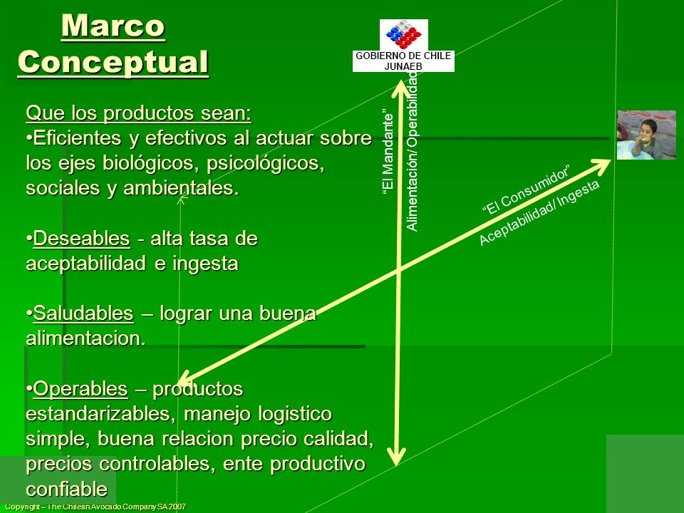 Marco Conceptual Que los productos sean: