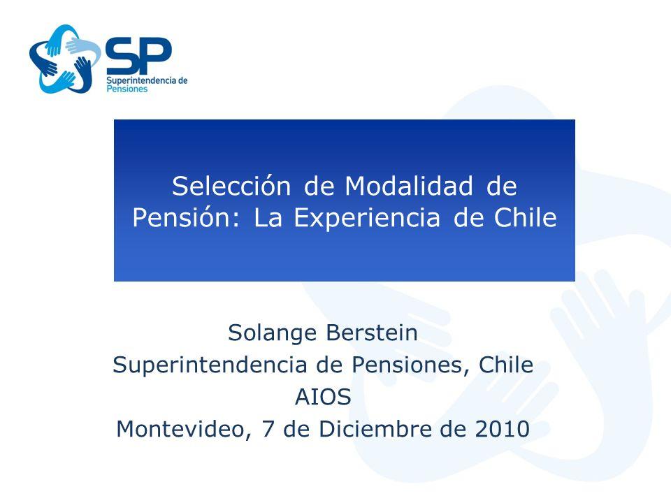 Selección de Modalidad de Pensión: La Experiencia de Chile