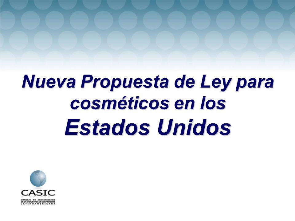 Nueva Propuesta de Ley para cosméticos en los