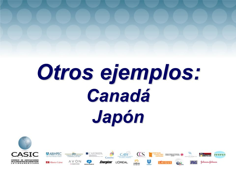 Otros ejemplos: Canadá Japón
