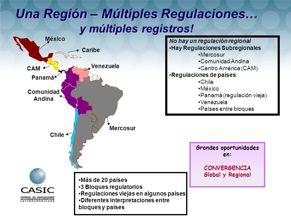 Una Región – Múltiples Regulaciones… Grandes oportunidades en: