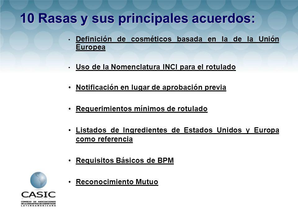 10 Rasas y sus principales acuerdos: