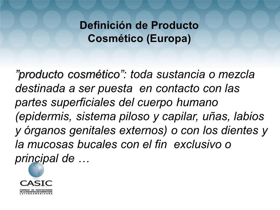 Definición de Producto Cosmético (Europa)