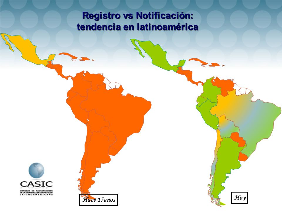 Registro vs Notificación: tendencia en latinoamérica