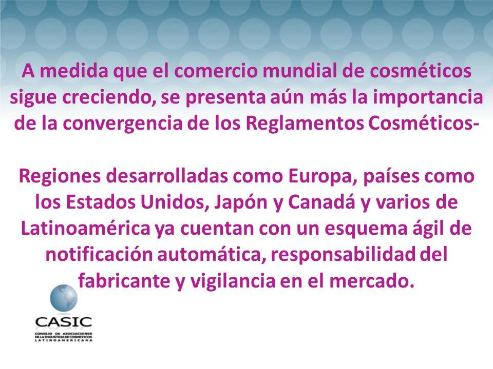 A medida que el comercio mundial de cosméticos sigue creciendo, se presenta aún más la importancia de la convergencia de los Reglamentos Cosméticos-