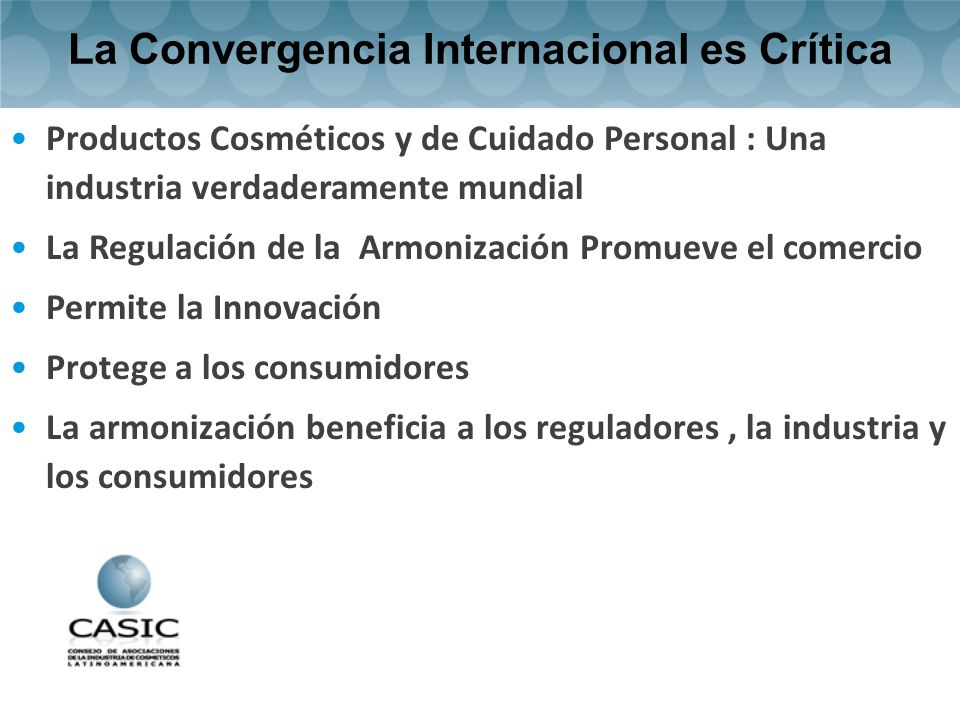 La Convergencia Internacional es Crítica