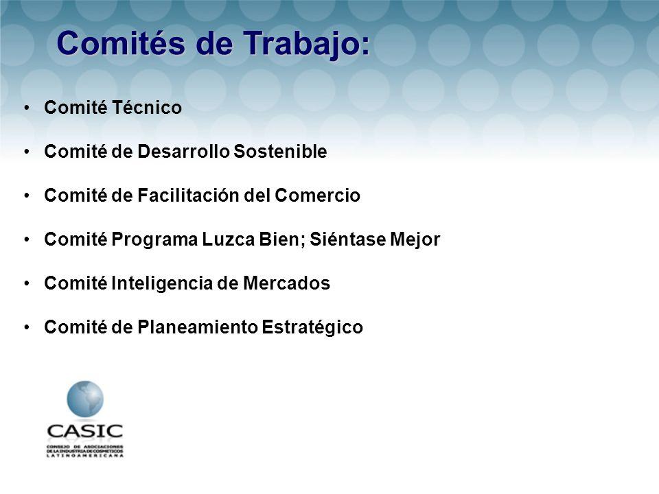 Comités de Trabajo: Comité Técnico Comité de Desarrollo Sostenible