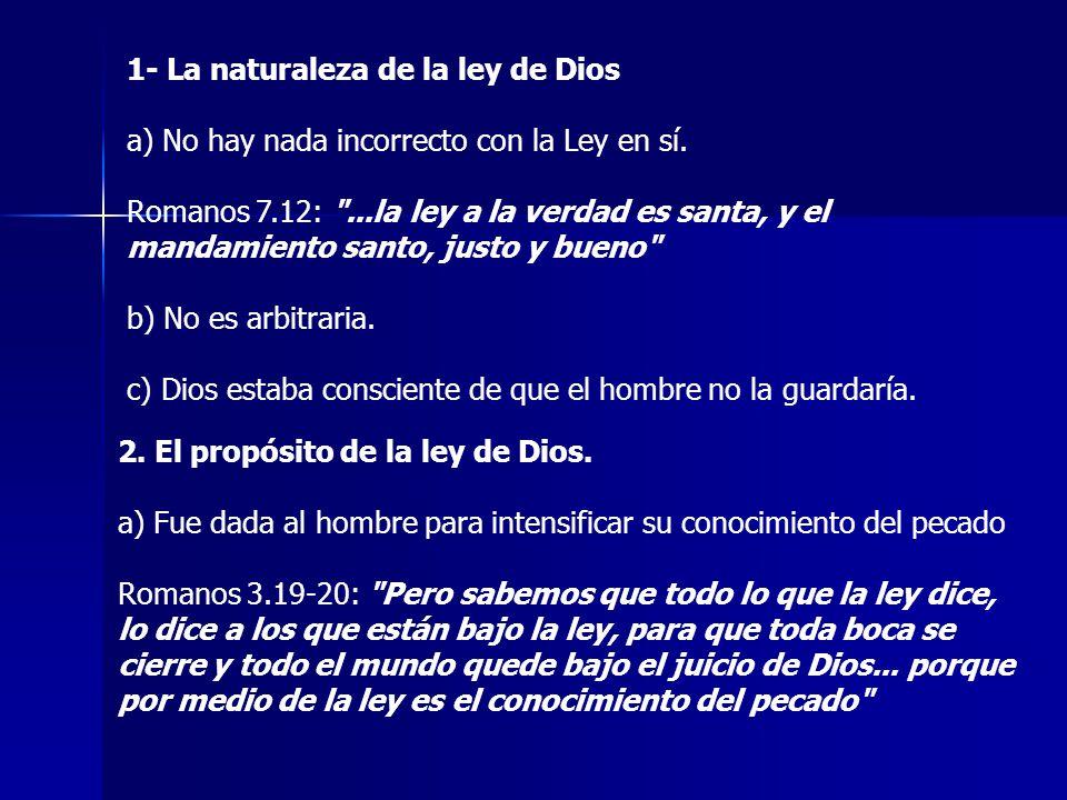 1- La naturaleza de la ley de Dios