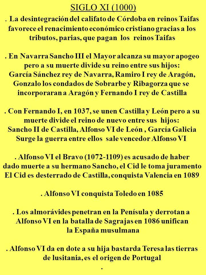 . La desintegración del califato de Córdoba en reinos Taifas
