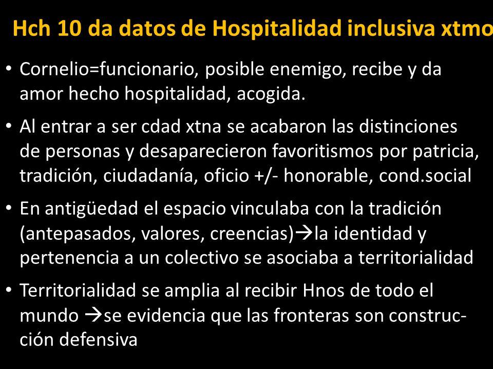Hch 10 da datos de Hospitalidad inclusiva xtmo