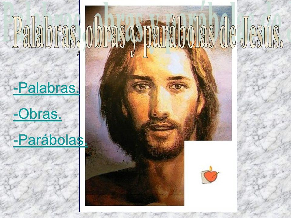 Palabras, obras y parábolas de Jesús.