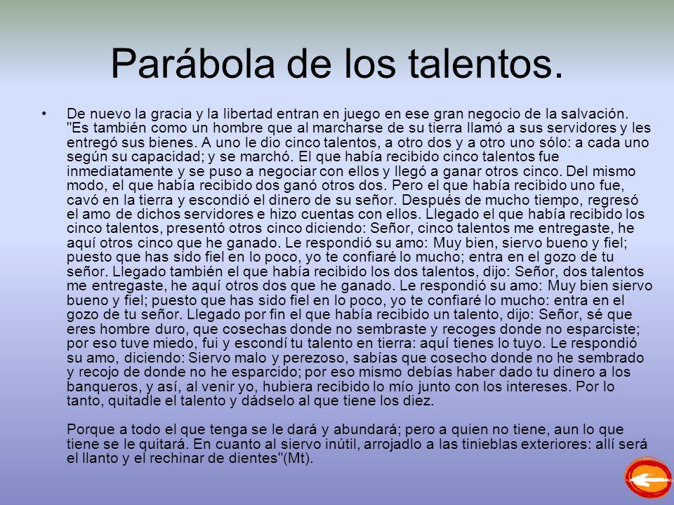 Parábola de los talentos.