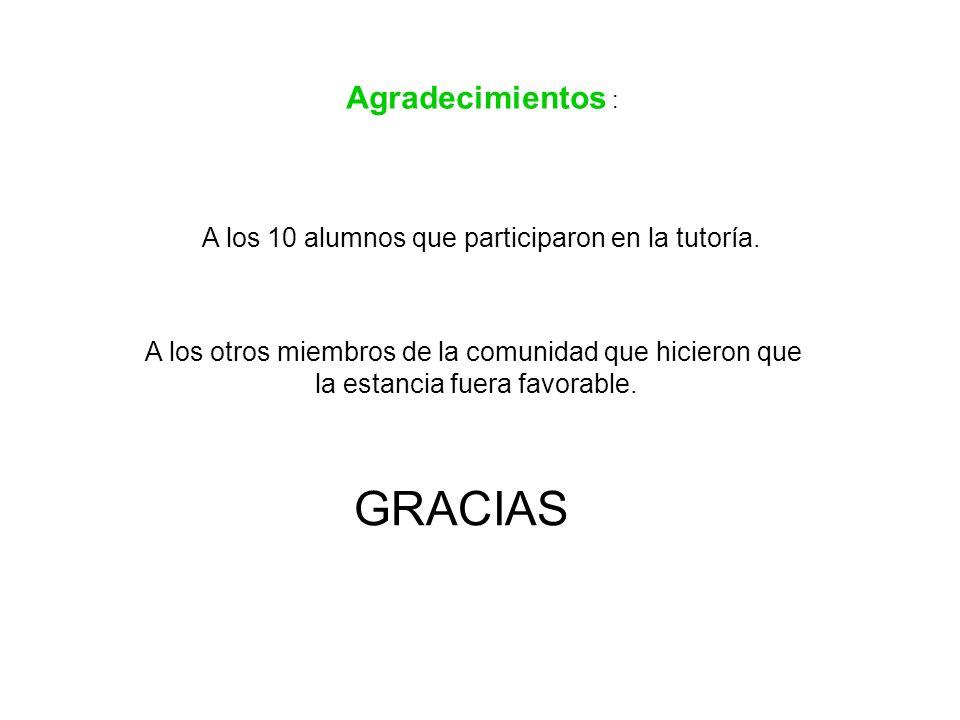 GRACIAS Agradecimientos :