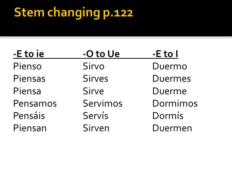 Stem changing p.122