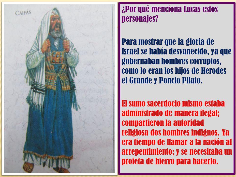 ¿Por qué menciona Lucas estos personajes