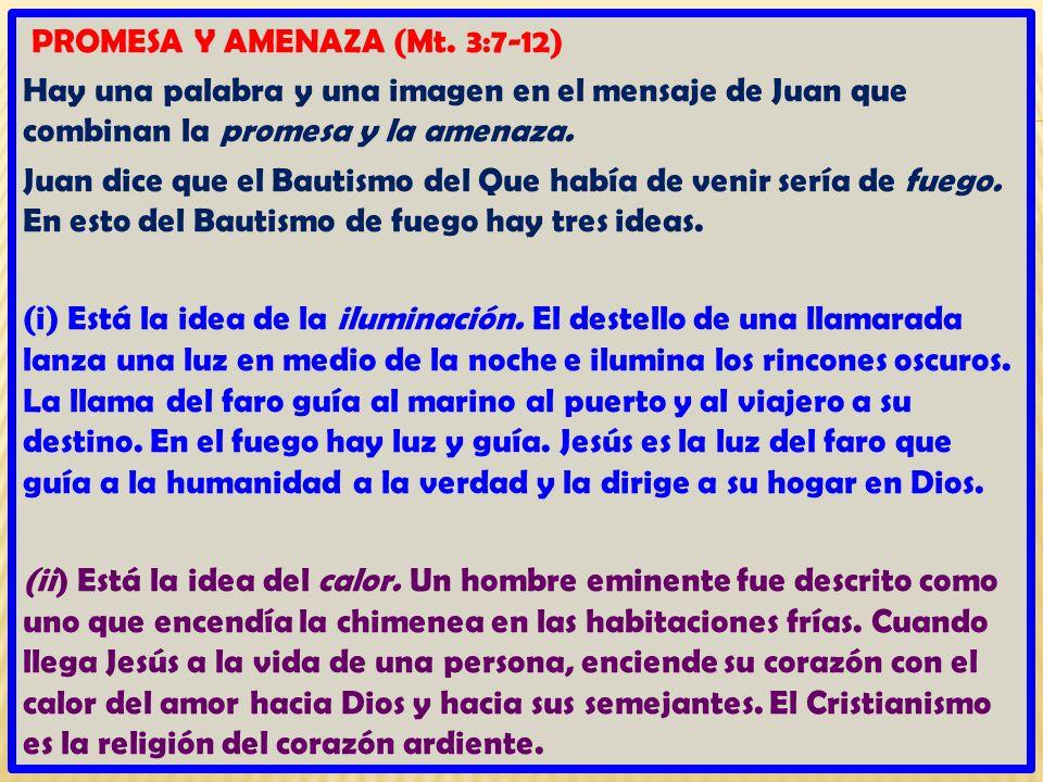 PROMESA Y AMENAZA (Mt.
