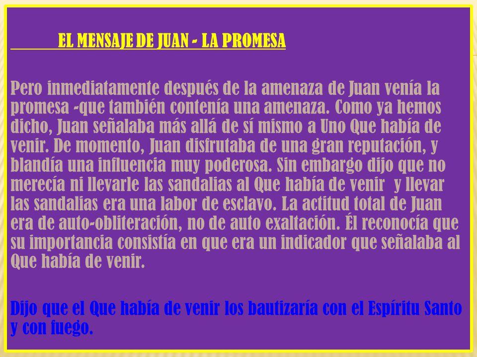EL MENSAJE DE JUAN - LA PROMESA