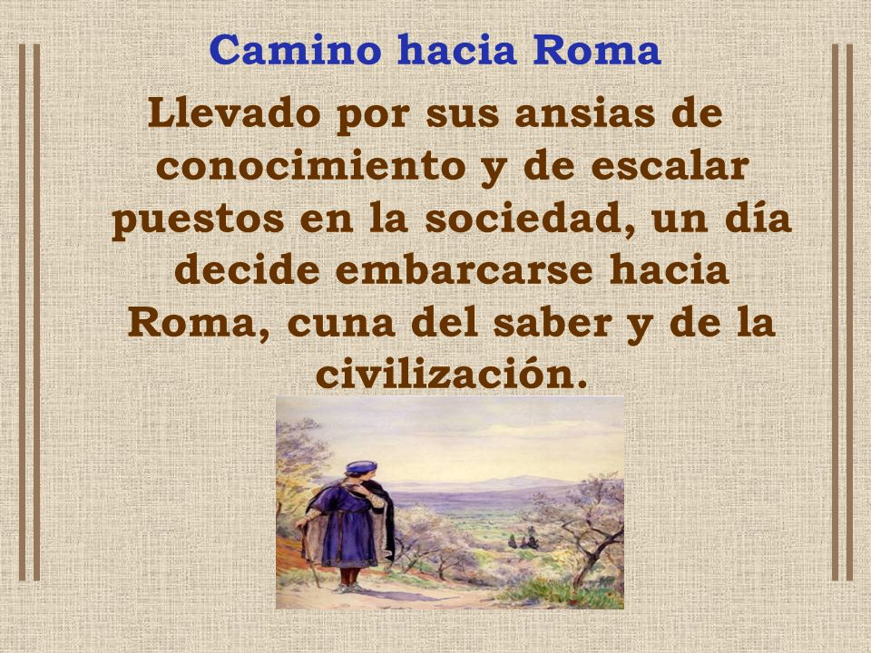 Camino hacia Roma