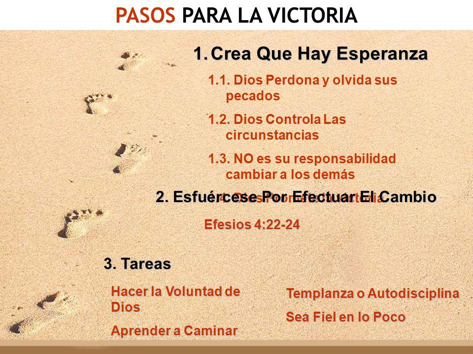PASOS PARA LA VICTORIA Crea Que Hay Esperanza