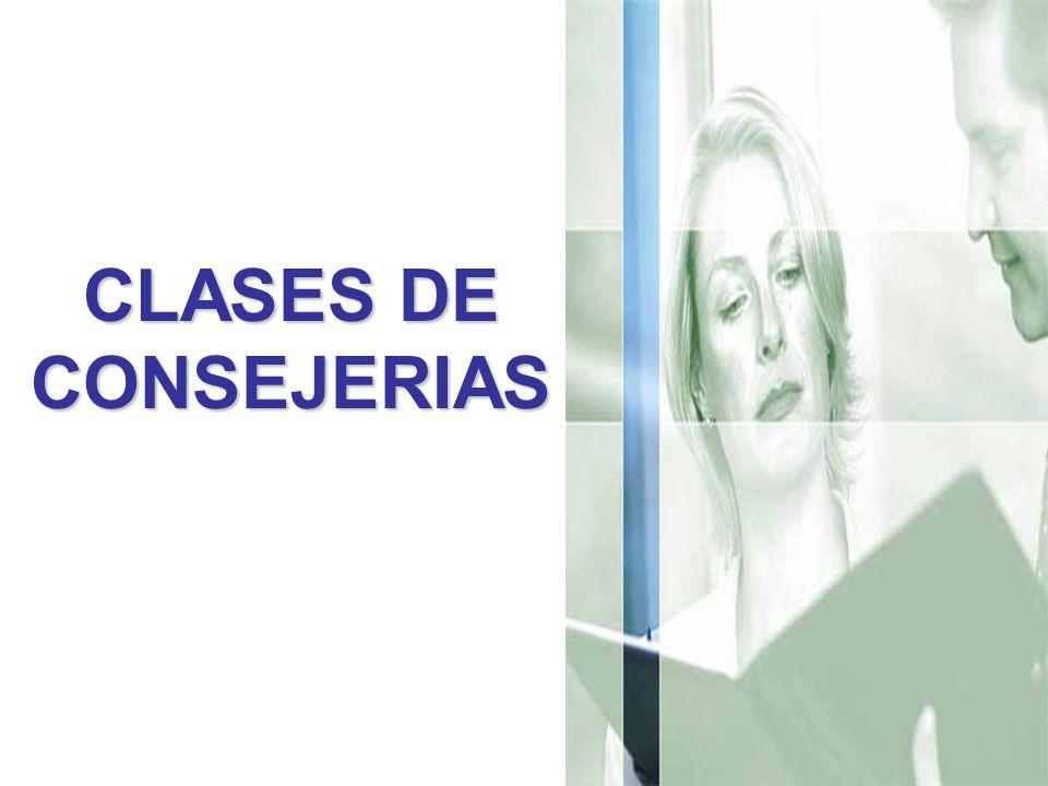 CLASES DE CONSEJERIAS
