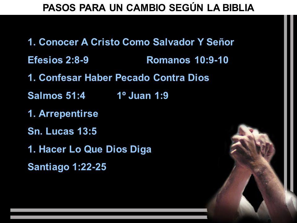 PASOS PARA UN CAMBIO SEGÚN LA BIBLIA