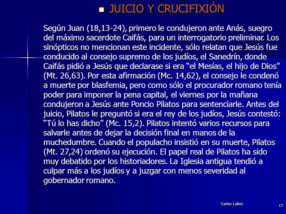 JUICIO Y CRUCIFIXIÓN