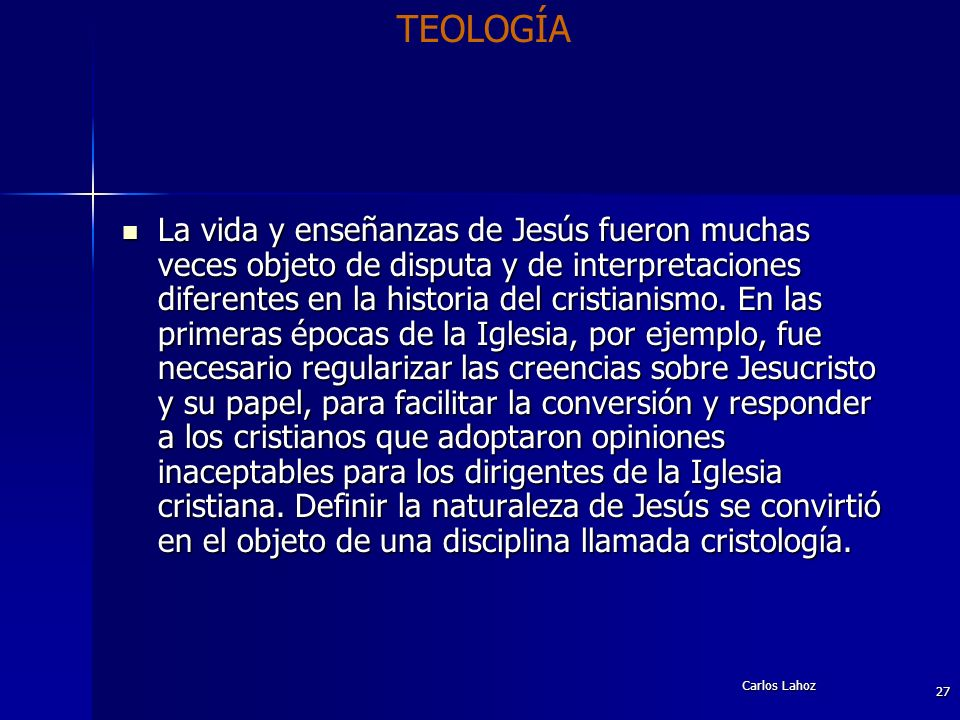 TEOLOGÍA