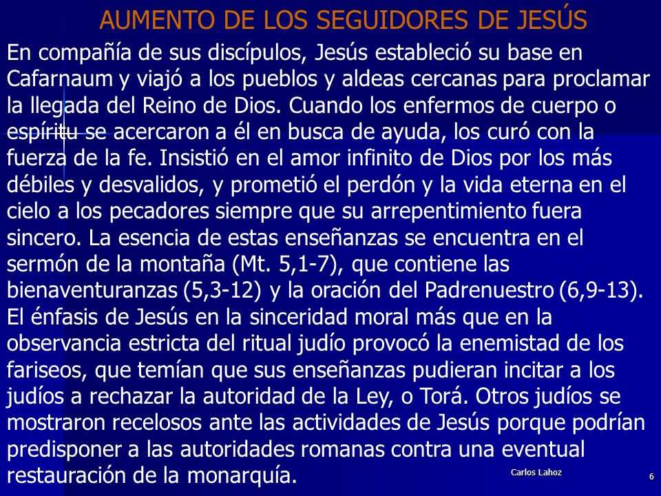 AUMENTO DE LOS SEGUIDORES DE JESÚS