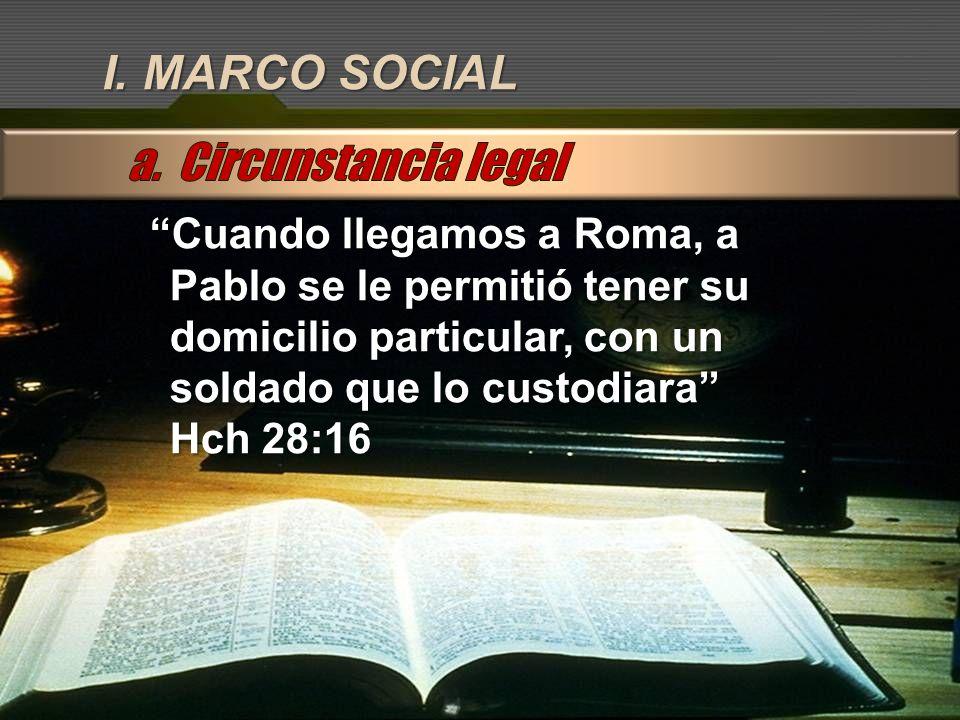 I. MARCO SOCIAL a. Circunstancia legal