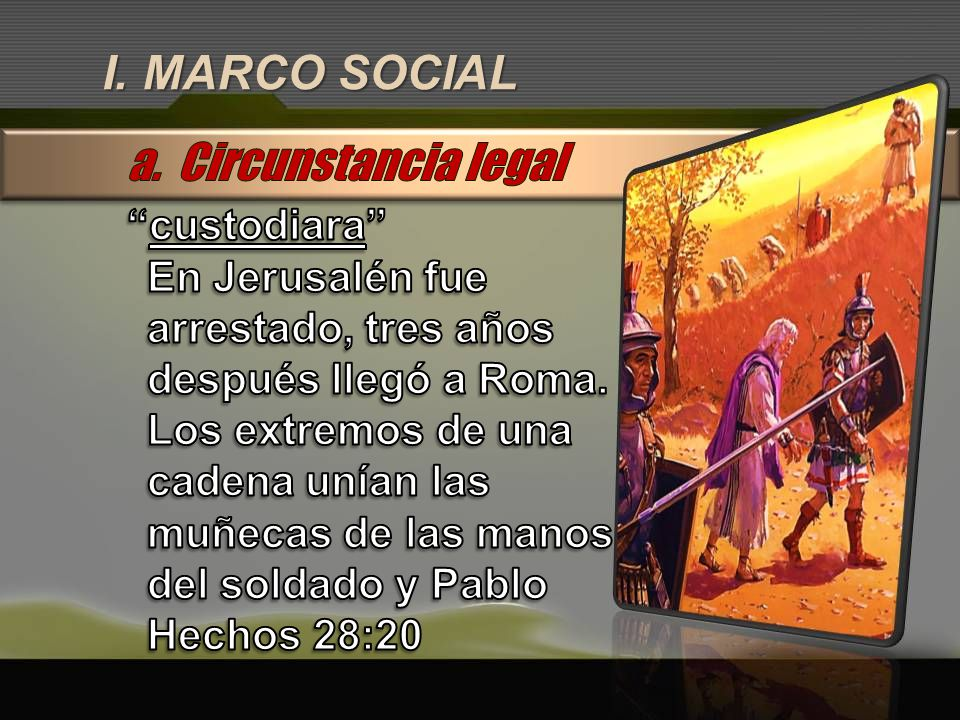 I. MARCO SOCIAL a. Circunstancia legal custodiara