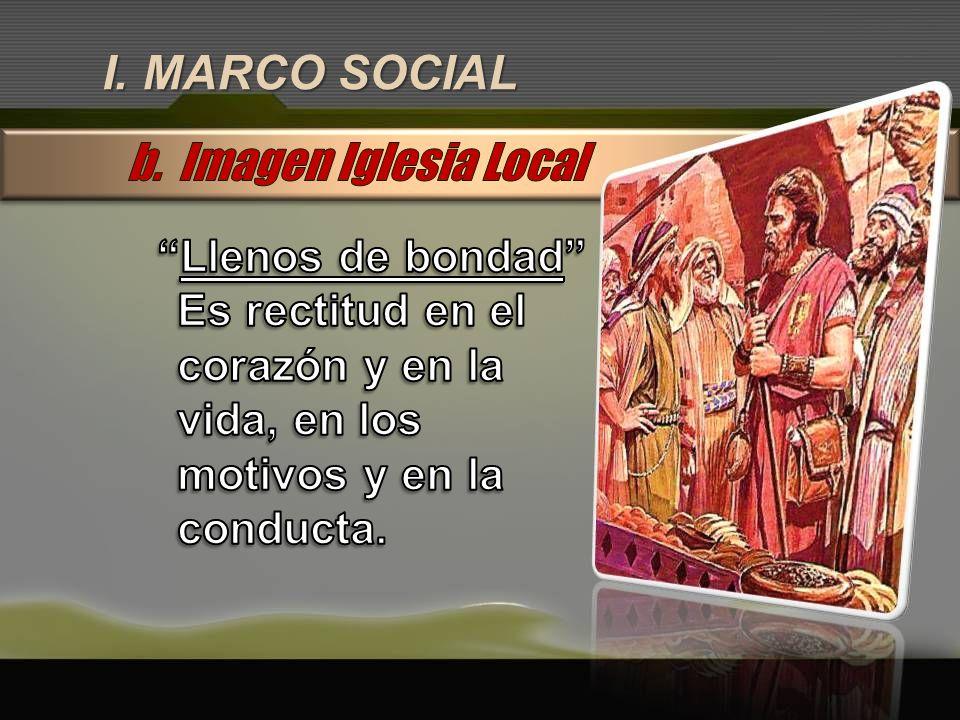 I. MARCO SOCIAL b. Imagen Iglesia Local Llenos de bondad