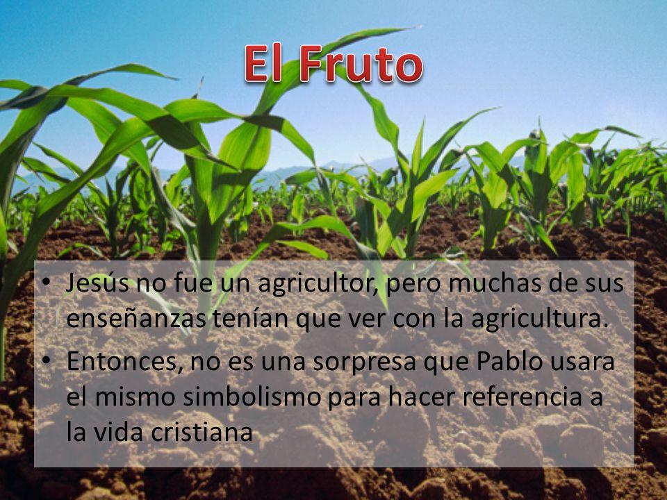 El Fruto Jesús no fue un agricultor, pero muchas de sus enseñanzas tenían que ver con la agricultura.