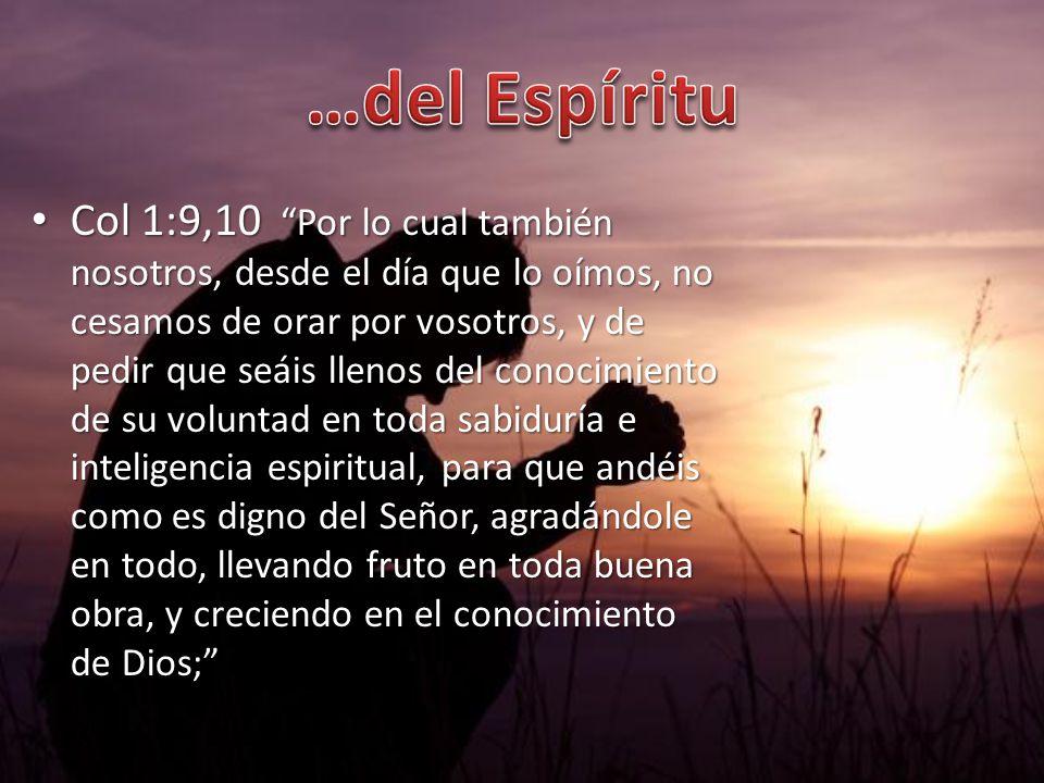 …del Espíritu