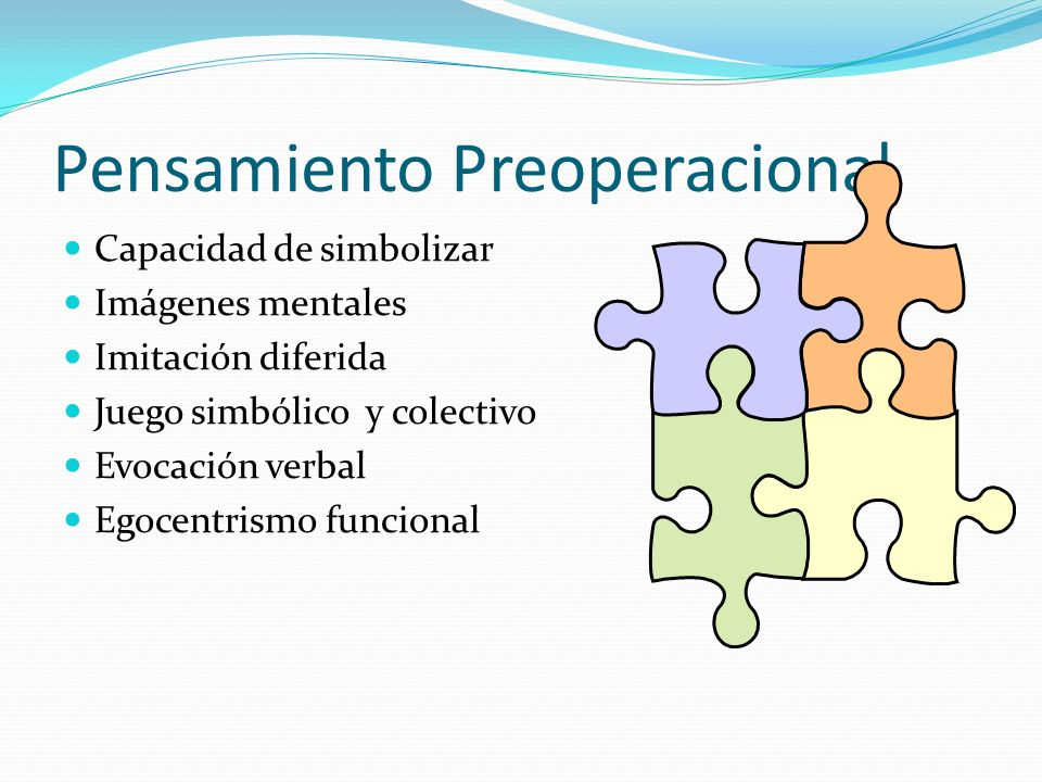 Pensamiento Preoperacional